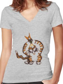 Wanna play? Women's Fitted V-Neck T-Shirt