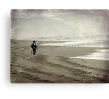Just me, the sea and the gulls Canvas Print
