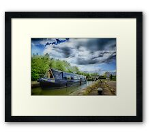 Narrow Boat on Grand Union Canal Framed Print