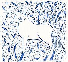 Blue Star Fox by Yetzenia Leiva