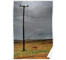 Telephone Poles Poster