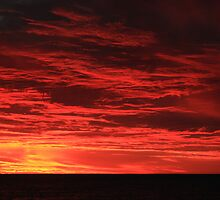 Fiery sunset in Adelaide by EblePhilippe