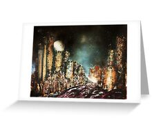 Castle Towers Moonrise Greeting Card