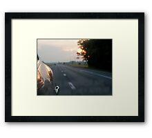 Good-Bye Sunset Framed Print