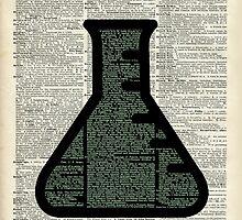 Green Chemistry Alchemy Test Tube Dictionary Art by DictionaryArt