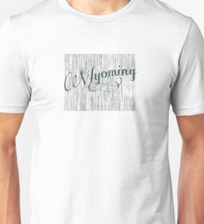 Wyoming State Typography Unisex T-Shirt