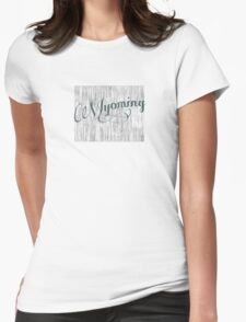 Wyoming State Typography T-Shirt