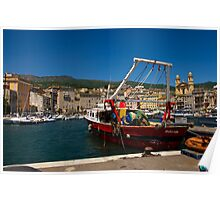 Bastia -The old harbour Poster