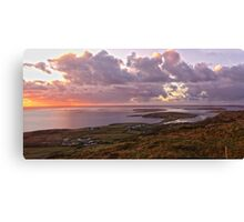 Panorama - sky Road Canvas Print