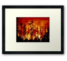 The Streets Where Men Gather Framed Print