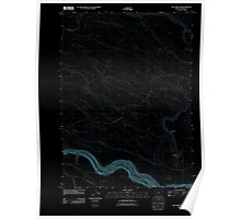 USGS Topo Map Oregon Dry Creek Rim 20110824 TM Inverted Poster