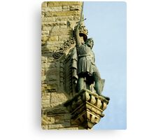 William Wallace statue at the Wallace Monument Stirling Scotland Canvas Print