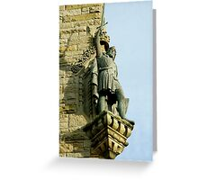 William Wallace statue at the Wallace Monument Stirling Scotland Greeting Card