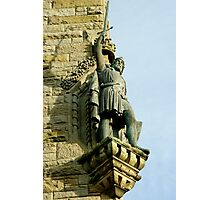 William Wallace statue at the Wallace Monument Stirling Scotland Photographic Print