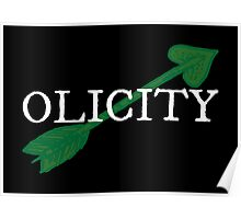 Olicity - Green Heart Arrow Poster