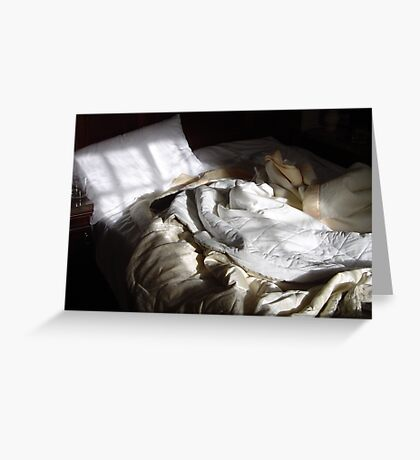 Crumpled Bed Greeting Card