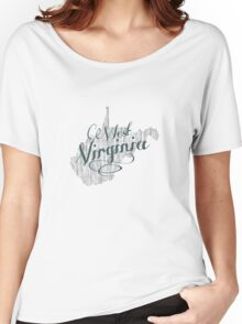 West Virginia State Typography Women's Relaxed Fit T-Shirt