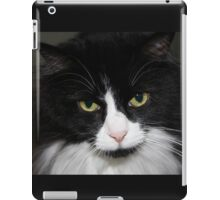 Black and White Tuxedo Cat iPad Case/Skin