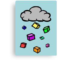 Cubic Rain Canvas Print