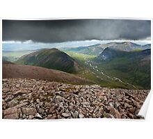 Glen Dee, Cairngorms, Scottish Highlands Poster