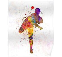 Baseball player throwing a ball Poster