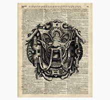 Grotesque Antique Greek Mask Over Old Book Page Unisex T-Shirt
