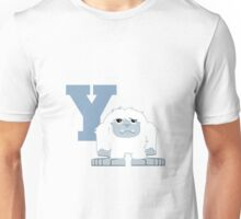 Y is for Yeti Unisex T-Shirt