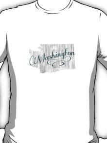 Washington State Typography T-Shirt