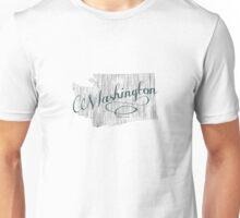 Washington State Typography Unisex T-Shirt