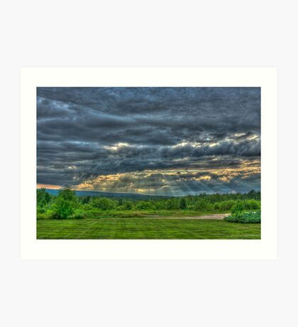 sunset in HDR  Art Print