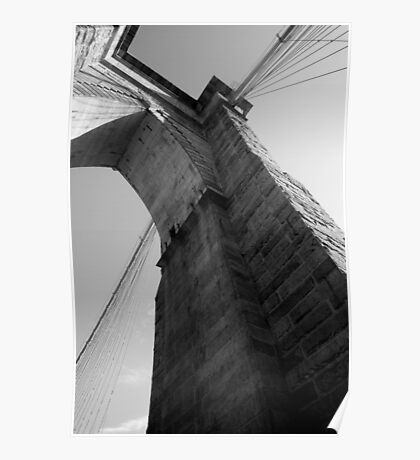 Brooklyn Bridge, West Tower Poster