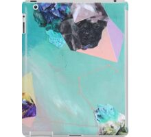 """Original contemporary art painting titled """"Mineral Leo"""" - Inspired by gemstones and astrology. iPad Case/Skin"""