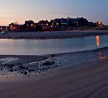 Alnmouth Estuary at sunset by Darren Turner