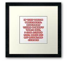 Funny Mechanical Engineer ... Modeling Career Framed Print
