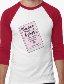 Basic Book of Spells ♥ Occult/Witchy/Hipster/Tumblr Meme Men's Baseball ¾ T-Shirt