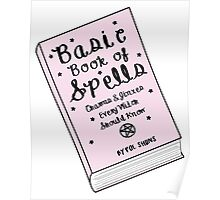 Basic Book of Spells ♥ Occult/Witchy/Hipster/Tumblr Meme Poster