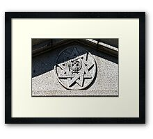 Above His Tomb Framed Print