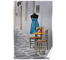 Table, Chairs and Dress Poster