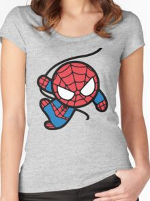 Crazy spider man Women's Fitted Scoop T-Shirt