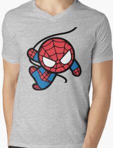 Crazy spider man Mens V-Neck T-Shirt