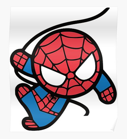 Crazy spider man Poster
