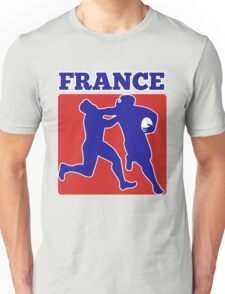 France rugby player running tackling with ball Unisex T-Shirt
