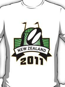 rugby ball goal post new zealand T-Shirt