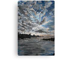 Pale Sunrise Canvas Print
