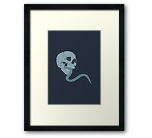 Skull Tongue [Blue] (Other Colours Available) Framed Print