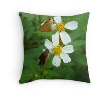 Two little skippers, sip, sip. Throw Pillow