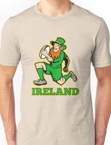 Irish leprechaun rugby player Ireland Unisex T-Shirt
