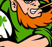 Irish leprechaun rugby player Ireland Sticker
