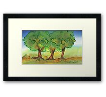 Three Strong Trees Framed Print
