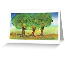 Three Strong Trees Greeting Card
